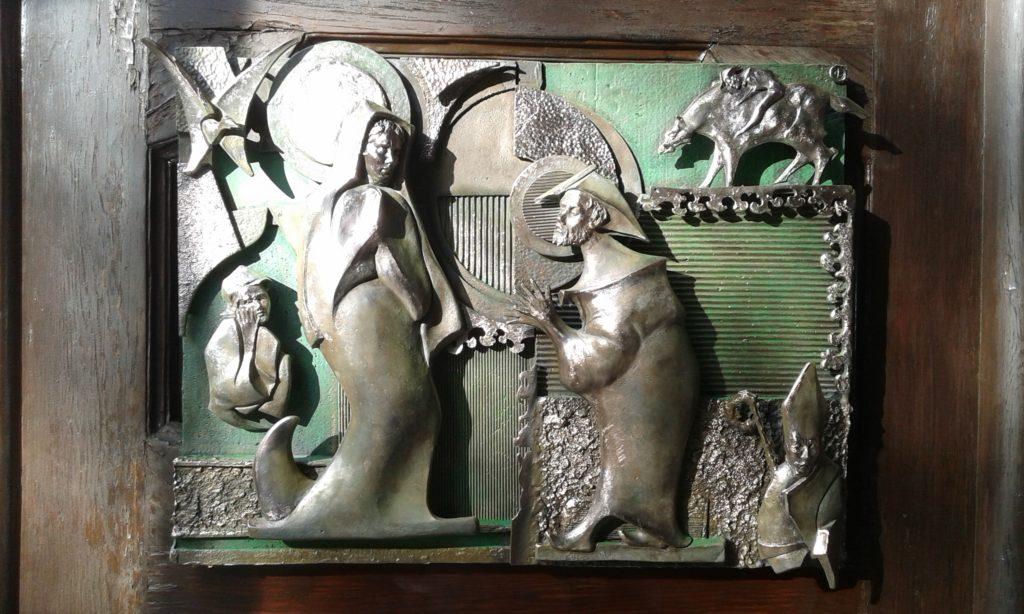 Bassorilievo Portone N.S. di Guadalupe Roma