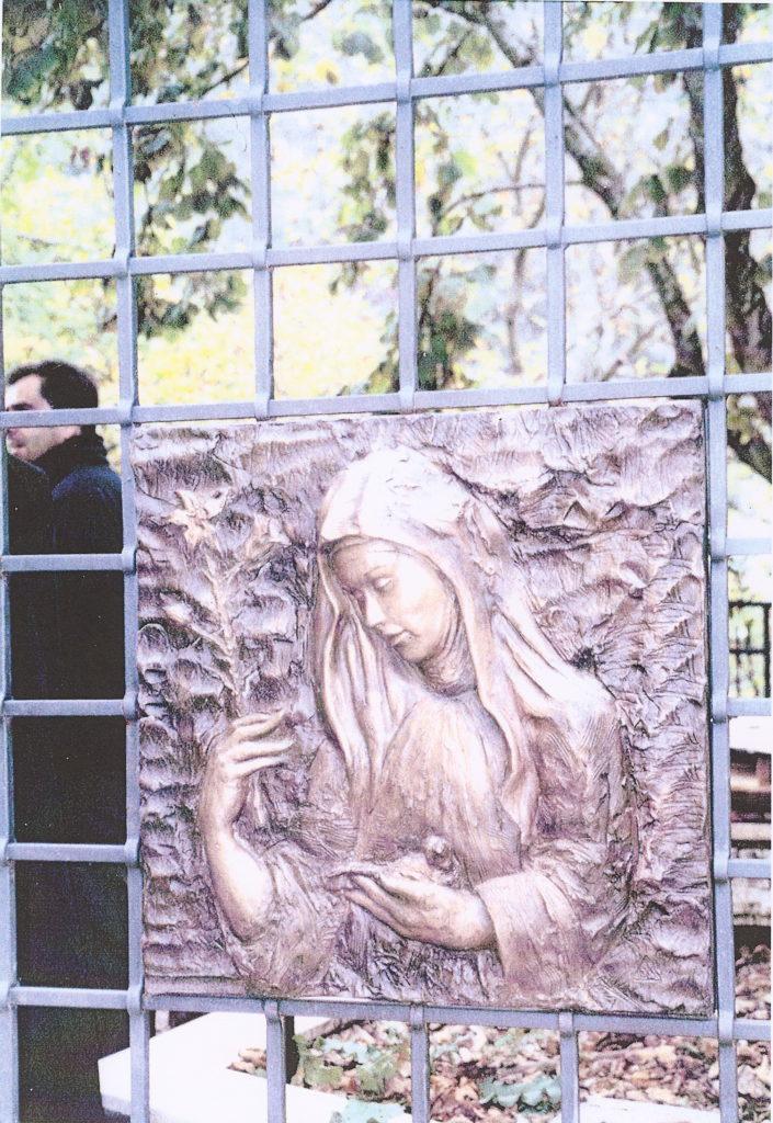 Bassorilievo Santa Scolastica Subiaco
